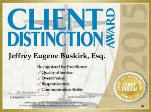 Client-distinction award